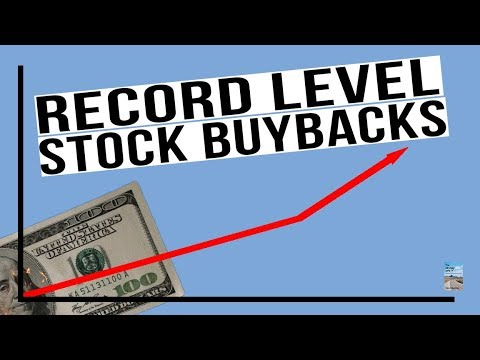 RECORD LEVEL Stock Buybacks Already in 2018! Watch What Happens To Stocks Now!