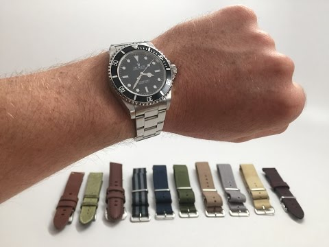 Rolex Submariner Watch Strap Guide // 10 Selections // Horween, Canvas, Leather, NATO