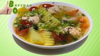 Очень вкусная уха из рыбы с овощами. Вкусная обстановка