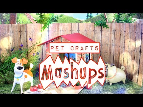Mash Ups: Doll Pet Crafts | Dog Bed | Pet Shop | Doghouse | Pipe Cleaner Dog | Cat Post & More