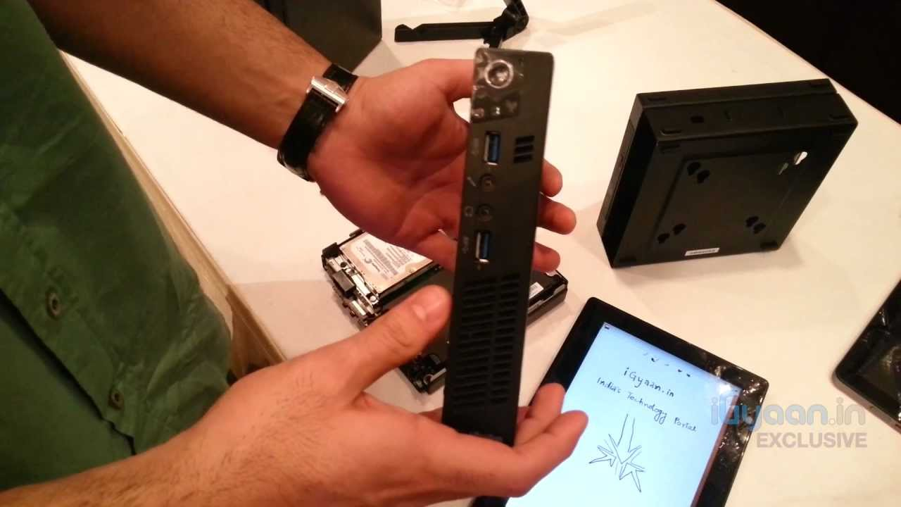 Lenovo Thinkcentre M92p Tiny , 1 Litre full Desktop, Core i5 Hands on at  Launch in India - iGYaan