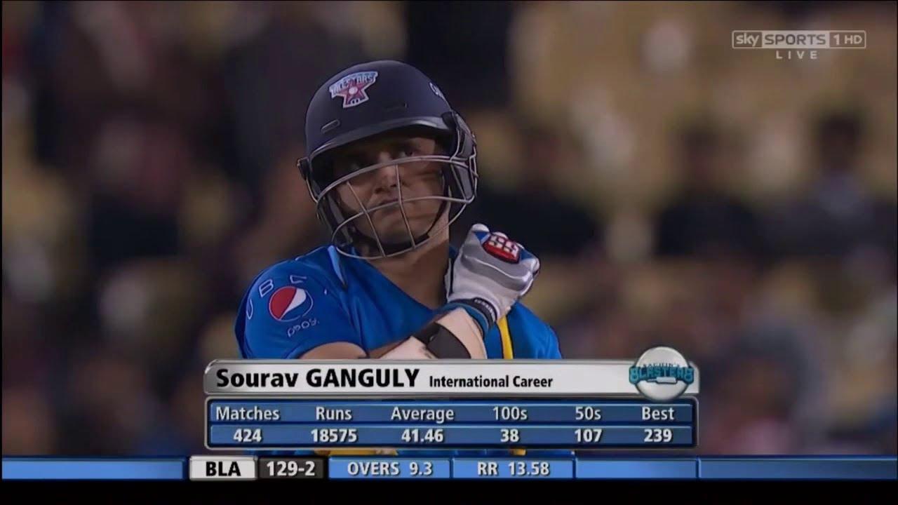 Sourav Ganguly 50 off 37 | Sachin's Blasters vs Warne's Warriors 2015 | 3rd T20 Los Angeles