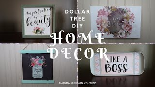 DOLLAR TREE DIY | Home Décor using Calendar Art | Farmhouse Inspired Looks | 4 Different Looks