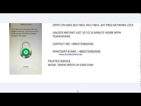 OPPO CPH1893 R17 NEO RX17 NEO AX7 PRO NETWORK UNLOCK
