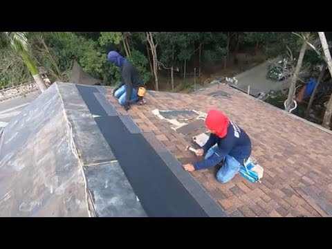 ASPHALT ROOF SHINGLES INSTALLATION  (silang Cavite Project)