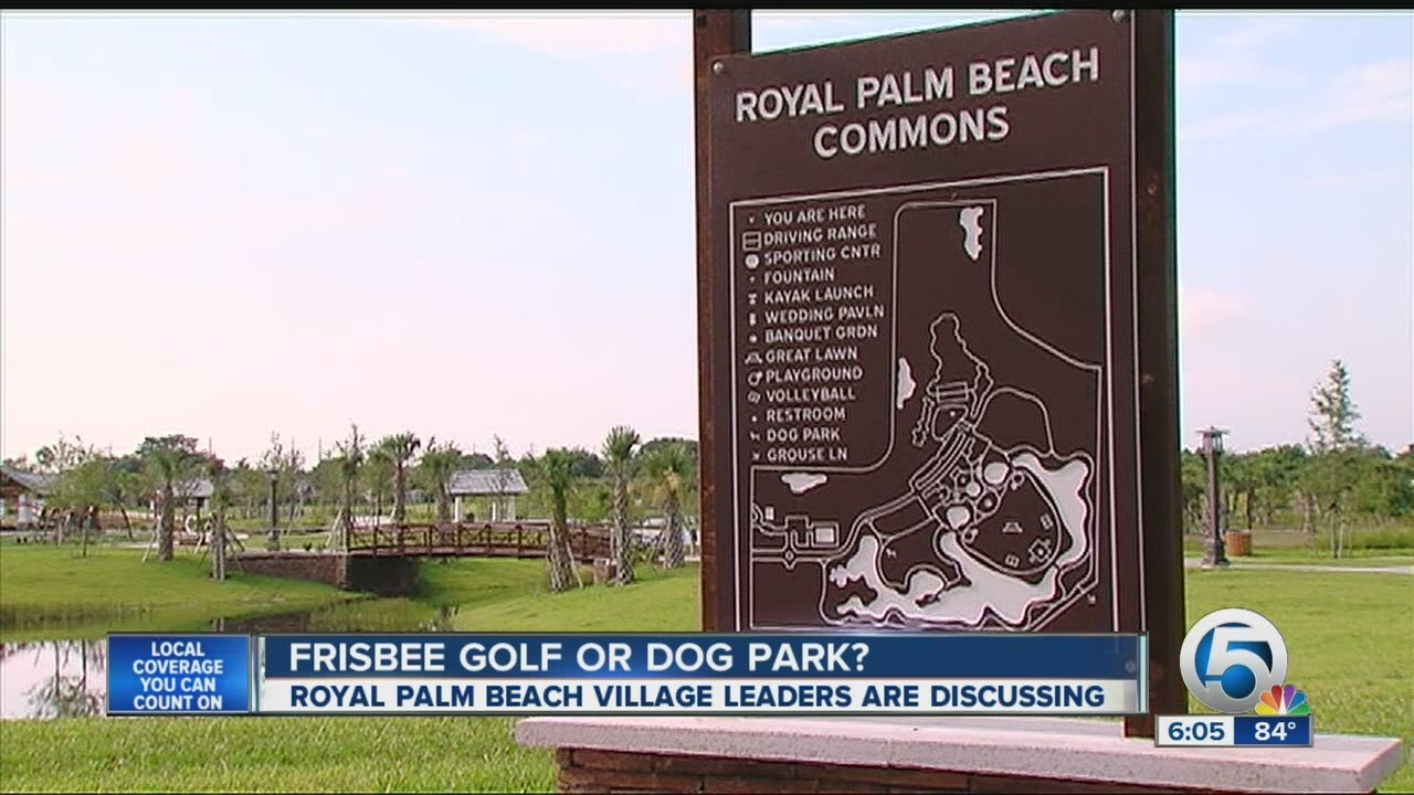 Future Of Royal Palm Beach Village S Commons Park Frisbee Golf Or Dog You