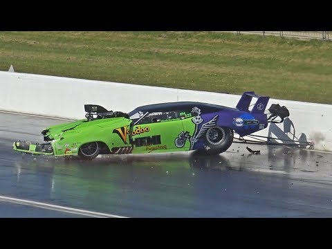 Drag Racing Wrecks, Wheelies & Close Calls Compilation