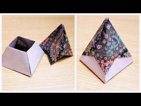 DIY Paper Box with Pyramid Lid//Paper Box//Diy Gift Wrapping