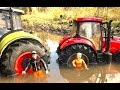 BRUDER TOYS tractor Claas Case In The Mud