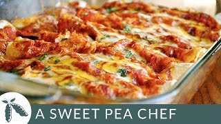Shredded Chicken Enchiladas  A Sweet Pea Chef