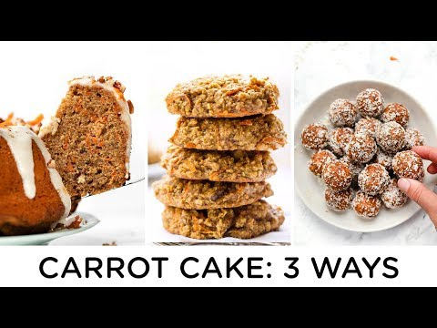 HOW TO MAKE CARROT CAKE ‣‣ 3 fun & healthy ways