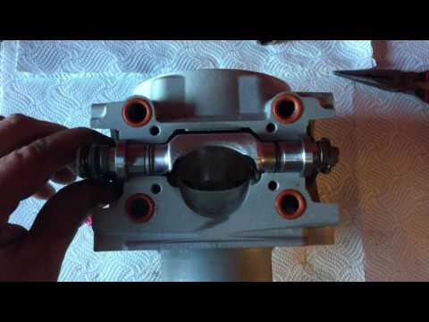 Cylinder re-plate and nice clean power valves all assembled ktm 300 2014 at CMF
