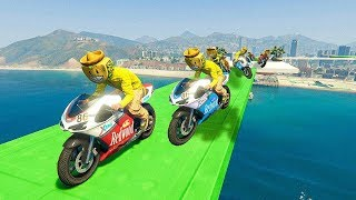 SOMOS DEMASIADAS MOTOS!! - CARRERA GTA V ONLINE - GTA 5 ONLINE