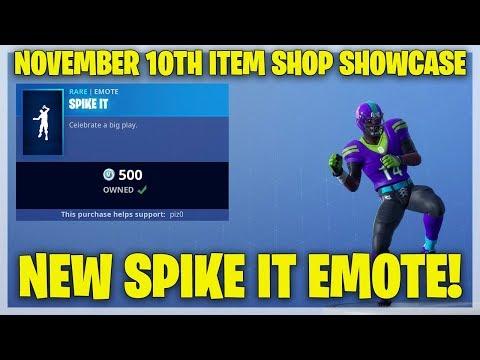 Fortnite Item Shop NEW SPIKE IT EMOTE! [November 10th, 2018] (Fortnite Battle Royale)