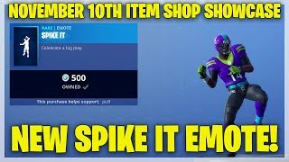Fortnite Item Shop NEW SPIKE IT EMOTE! [November 10th, 2018] (Fortnite Battle Royale) thumbnail