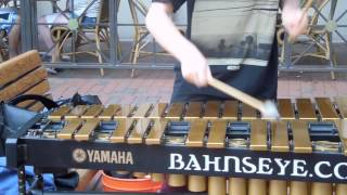Kid Plays the Vibraphone on Pearl Street Mall in Boulder