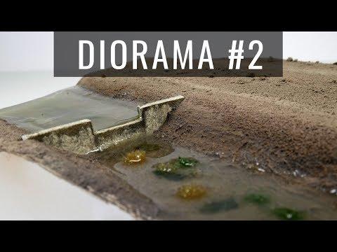 Diorama - Część 2: Efekt wody z żywicy + inny sposób na realistyczne zacieki
