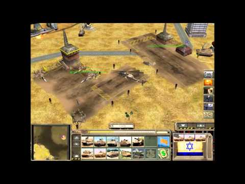 Command And Conquer Generals Zero Hour A Global Crisis Israel Gameplay