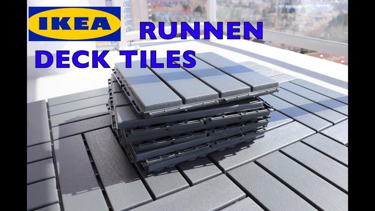 Ikea Runnen Deck Flooring Patio Tiles - YouTube