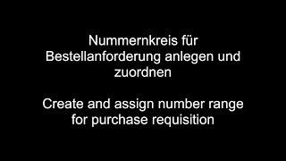 Satın alma talebi için SAP MM - Oluşturun ve atayın numarası aralığı