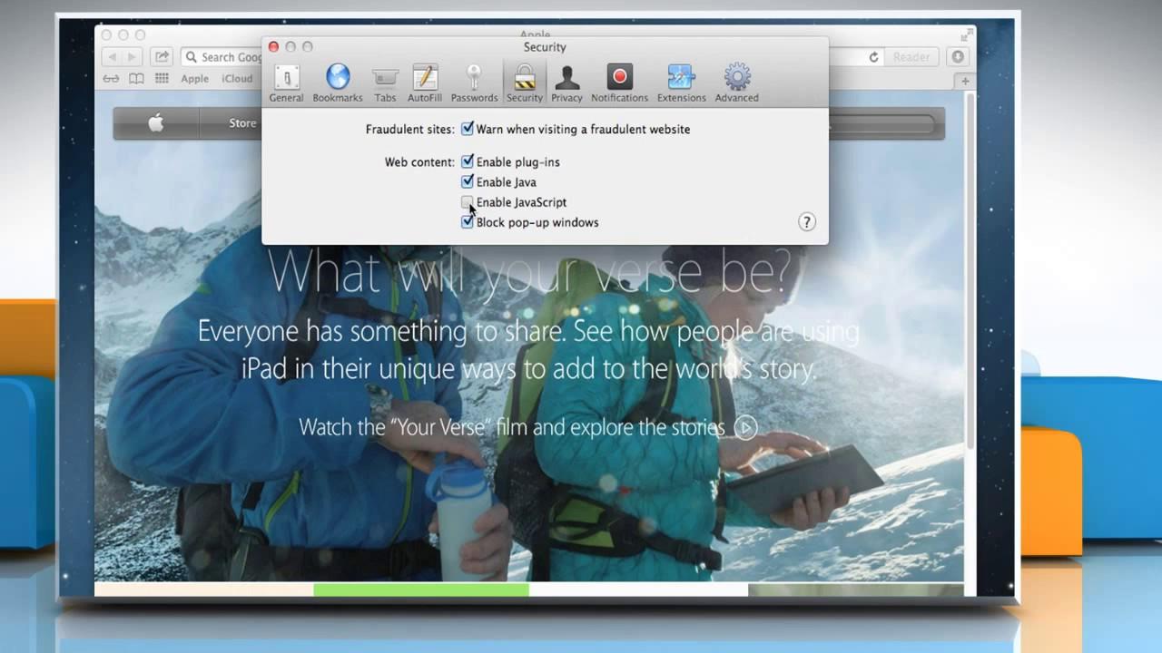 How To Enable Javascript On Apple� Safari Web Browser