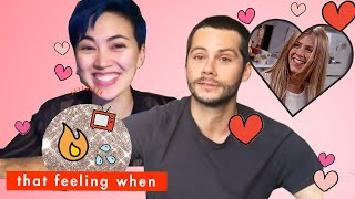 Dylan O'Brien and Jessica Henwick Reveal Their Famous Crushes! | That Feeling When | Cosmopolitan