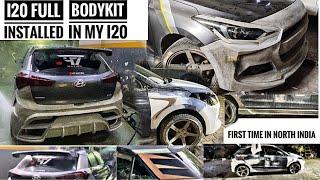 full bodykit installed in my i20 elite Hyundai i20 restoration/Modification🔥 sportscar banadi part1