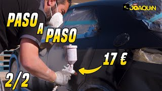 COMO PINTAR UN COCHE EN CASA CON PISTOLA ECONÓMICA / PARTE 2