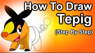 How To Draw Tepig Step By Step Tutorial