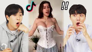 Korean Guys React To TikTok Bring The Corsets!