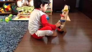 Moksh Plays With A Click Clack Wooden Toy By Plan Toys: Eye Tracking Activity 1