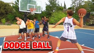CRAZY BASKETBALL DODGE BALL!