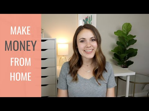 5 SIDE HUSTLES TO DO FROM HOME!