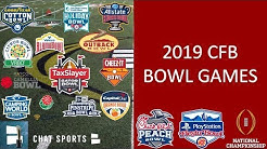 College Football Bowl Games: 2019-20 Schedule, Matchups, Dates, Times And Locations