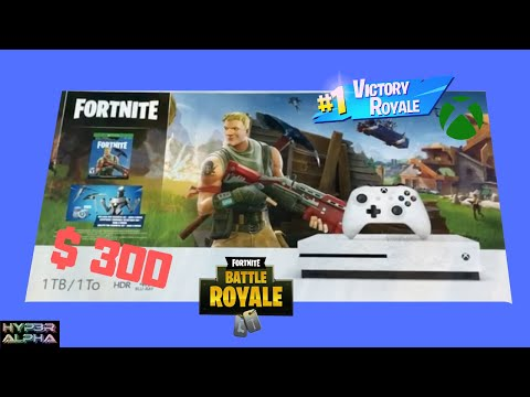Xbox One S Fortnite Bundle Unboxing And Gameplay