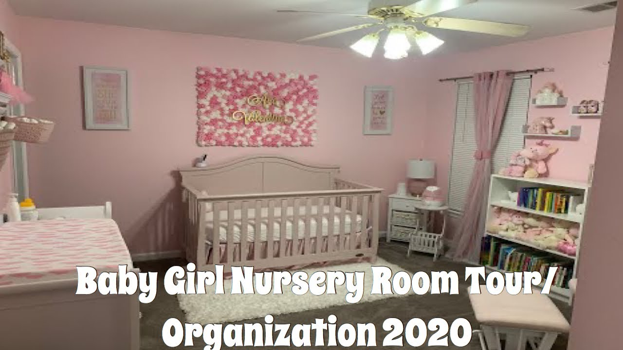 Baby Girl Nursery Room Tour/ Organization 2020 (Royalty Theme) - YouTube