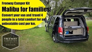 Camper van kit conversion Malibu 4 (for family) by Freeway, FULL tour!