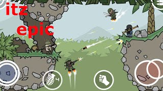 Doodle Army 2:Mini Militia an epic gameplay 2 vs 1 screenshot 5
