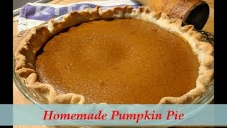 Homemade Pumpkin Pie - The Easiest Way from Scratch