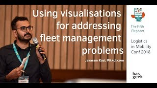 Using visualizations for addressing fleet management problems