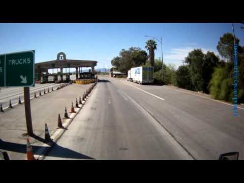 Boarder Crossing, AZ to CA, Port of Entry, I-10 West