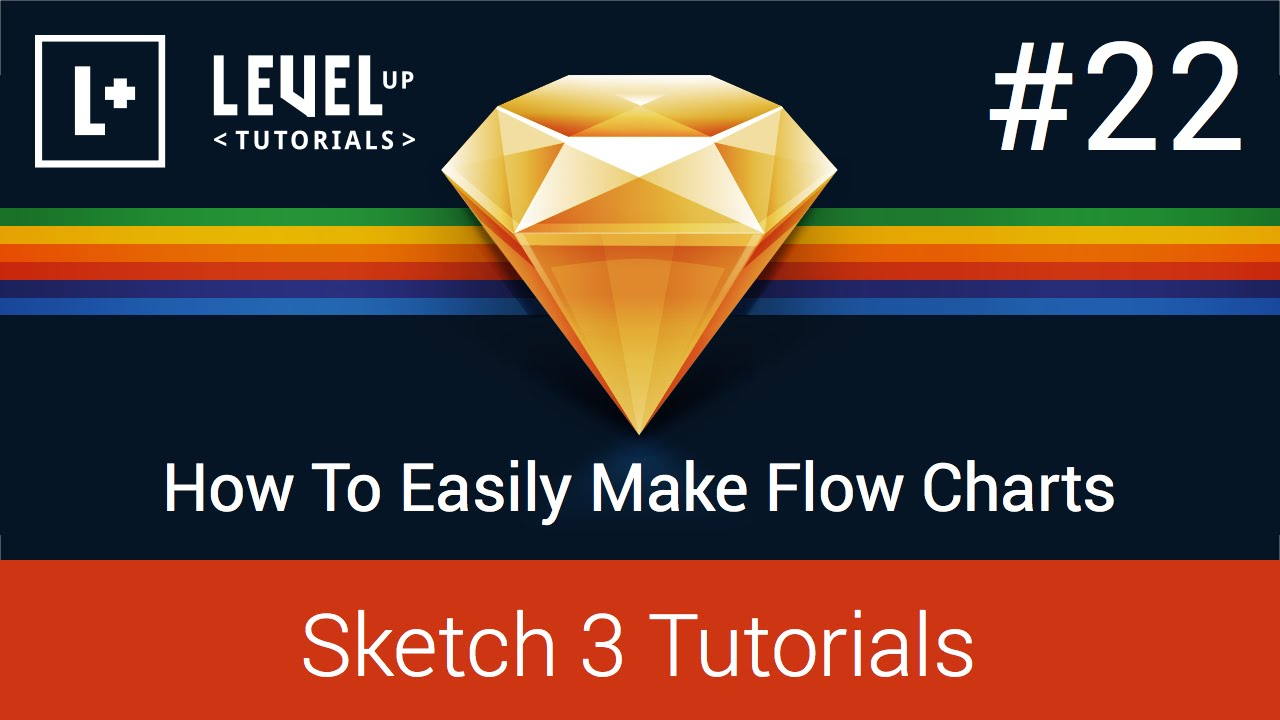 Sketch App Tutorials #22 - How To Easily Make Flow Charts - Sketch 3  Tutorials