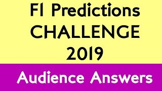 F1 Predictions Challenge 2019 - The Audience Predicts! thumbnail