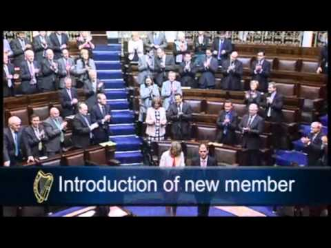 Helen mcEntee takes seat in the Dáil