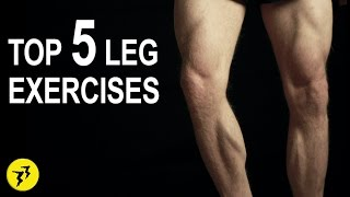 Top 5 Leg Exercises | In Home | Bodyweight [NO EQUIPMENT NEEDED]