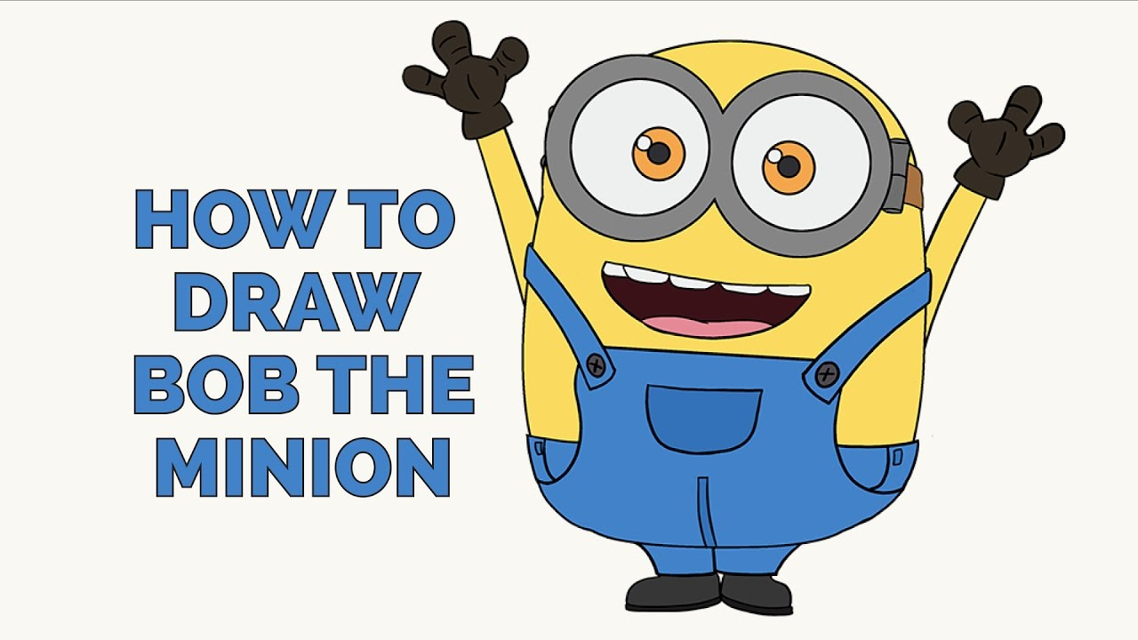 How to Draw Kevin from The Minions Movie 2015 in Easy ...  Easy Minion Pencil Drawings