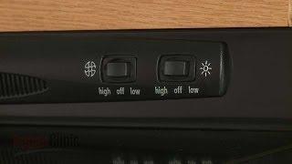 Nutone Range Hood Fan Light Switch Replacement #SR561157