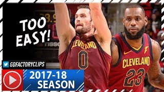 LeBron James 18 Pts & Kevin Love 19 Pts Full Highlights vs Pistons (2017.11.20) - TOO EASY!
