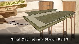 Veneering Doors - Small Cabinet On A Stand - Part 3