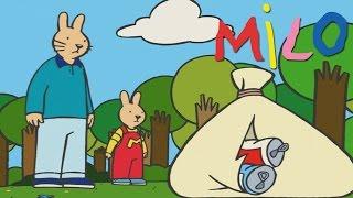 Milo lernt, die Natur zu respektieren | Karikatur für Kinder